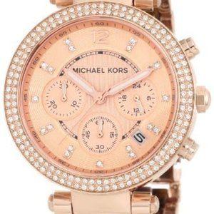 Michael Kors Parker Tortoise Rose Gold Dial Watch